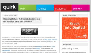 extension SEO Quirk Search Status