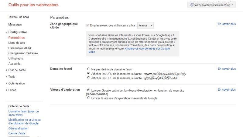 google-webmaster-tools-septembre2012-parametres