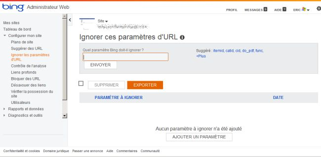 bing-webmaster-tools-ignorer-parametres