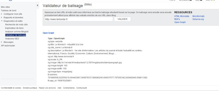 bing-webmaster-tools-validateur-balisage