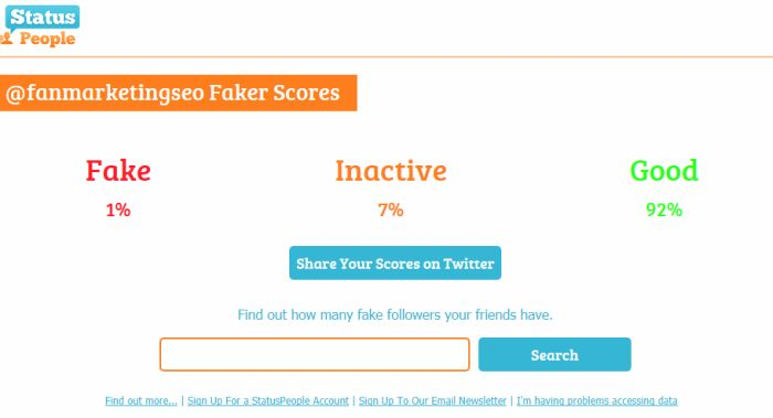 Fake Follower Check