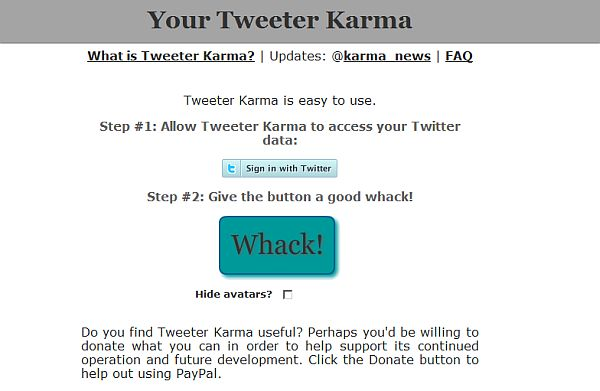 Tweeter Karma