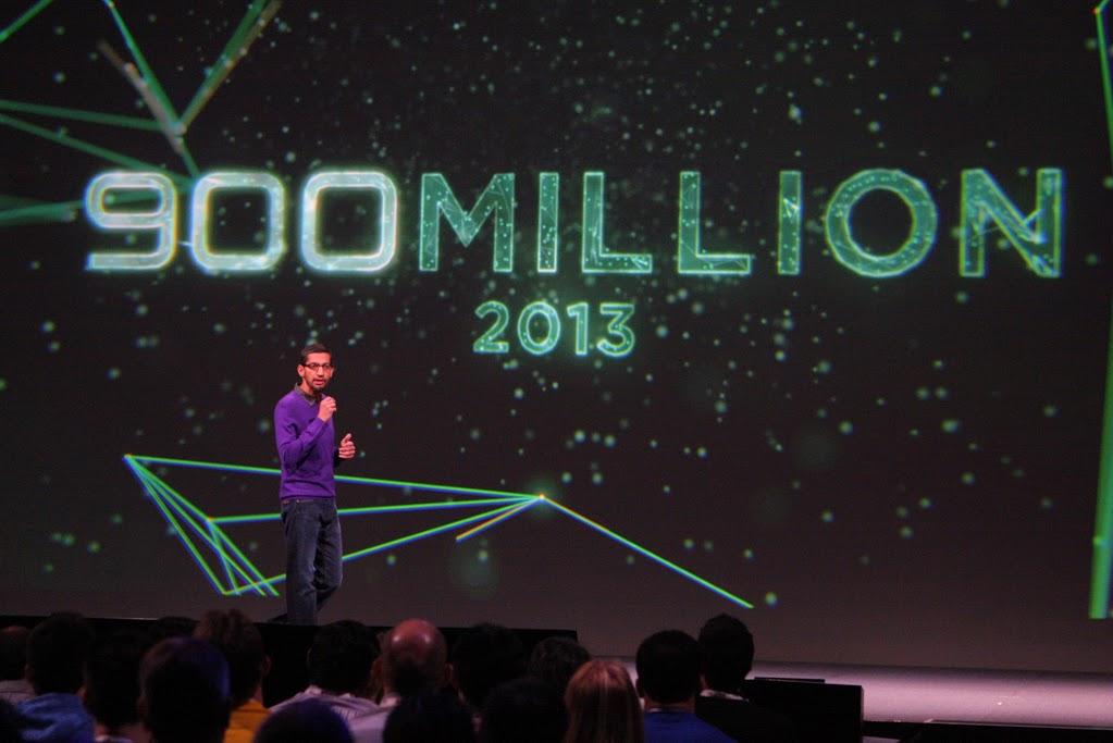 Google a annoncé 900 millions activations Android dans le monde à ce jour